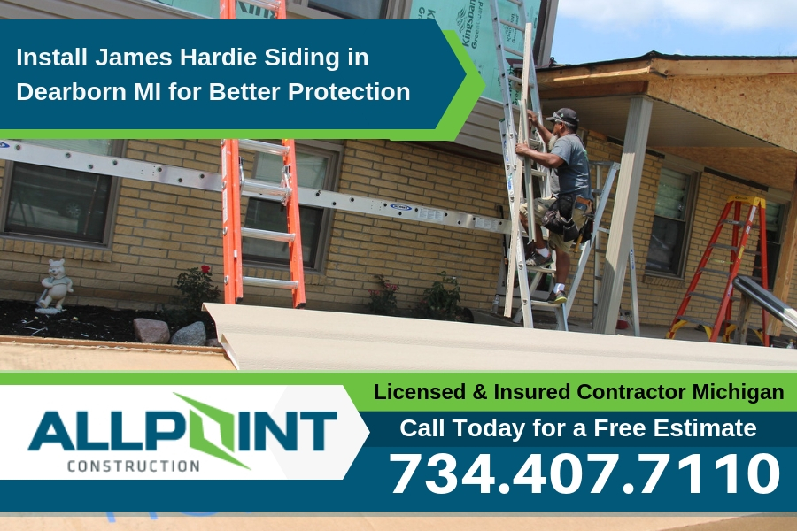 Install James Hardie Siding in Dearborn Michigan for Better Protection