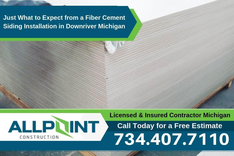 Just What to Expect from a Fiber Cement Siding Installation in Downriver Michigan